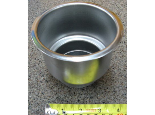 Pontoon Boat Part - Cup Holder Insert - Stainless Steel