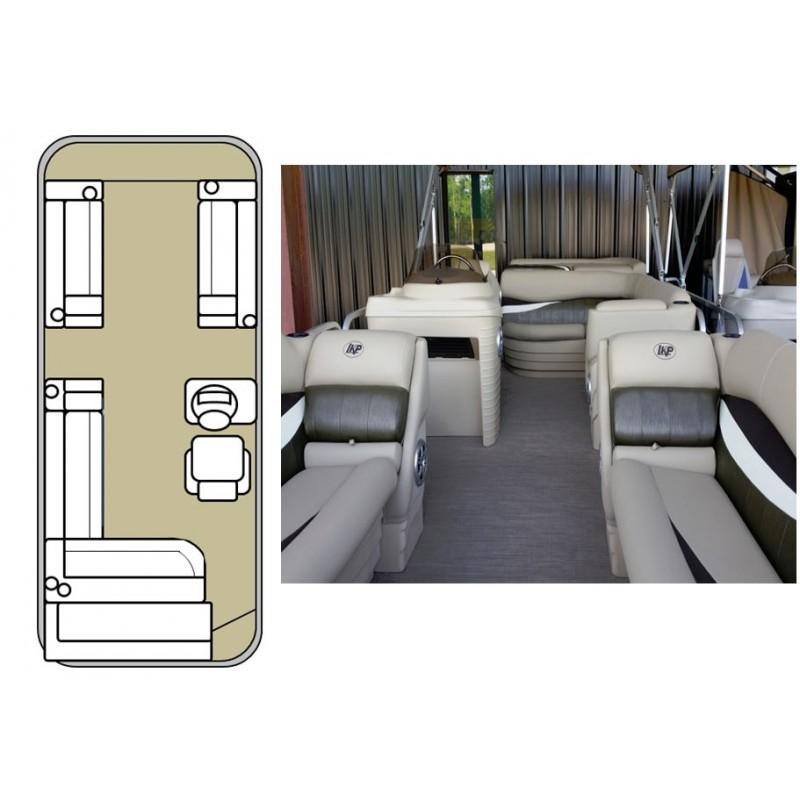 1996 pontoon 20 ft long 1996 17 maxum magnum full for Pontoon boat interior designs