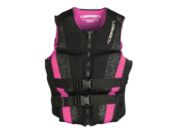 O'BRIEN ADULT LADIES FLEX V BACK LIFE VEST PINK
