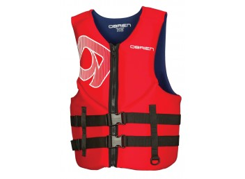 O'Brien Adult Men's Traditional Neoprene Life Vest - Red