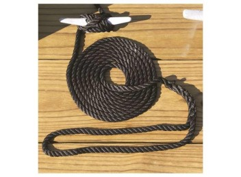 "Boater Sports 3-Strand Twisted Nylon docklines 3/8"" x 10' - Black"