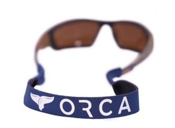 Orca Logo Croakies - black
