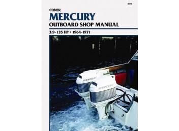 Mercury Outboard Shop Manual 3.9-135 HP 1964-1971 (Clymer B719)