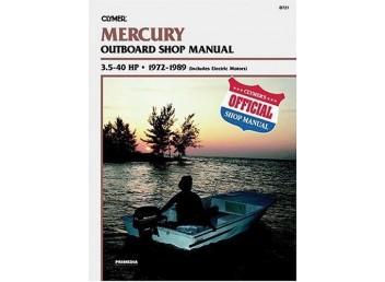 Mercury Outboard Shop Manual 3.5-40 HP 1972-1989 w/Elec. (Clymer B721)