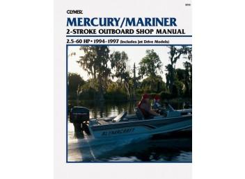 Mercury/Mariner Outboard Shop Manual 2.5-60 HP 1994-1997 (Clymer B723)
