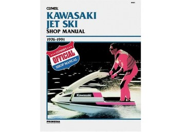 Kawasaki Jet Ski Shop Manual 1976-1991 (Clymer W801)