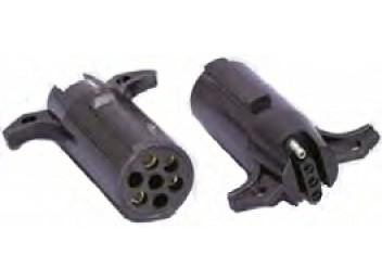 Husky Standard Trailer Adapter 7-Way Round Pin Type 4-Way Flat 15406
