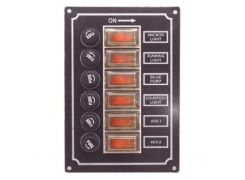 Boater Sports 6 Gang Boat 12V Fuse Panel 51401