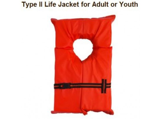 Youth Orange Life Vest