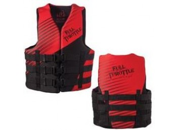 Full Throttle Youth Neoprene Life Vest - Red