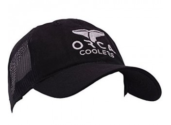 Orca Black Low Profile Trucker Hat