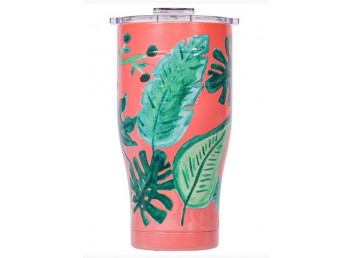 Orca 27oz Chaser - Coral/Clear Palms
