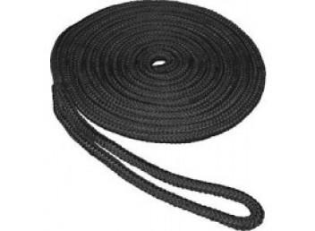 "Boater Sports Double Braided Nylon Docklines 1/2"" x 15' - Black"