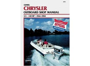 Chrysler Outboard Shop Manual 3.5-140 HP 1966-1984 (Clymer B750)