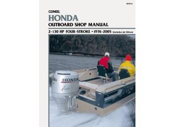 Honda Outboard Motor Shop Manual 2-130 HP 1976-2005 (Clymer B757-2)