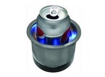 Stainless steel LED drink holder