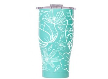 Orca 27oz Chaser -Floral Sketch Seafoam/Clear